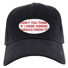 DONT-YOU-THINK-EURO-RED Baseball Hat