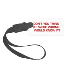DONT-YOU-THINK-EURO-RED Luggage Tag