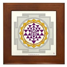 Sri Yantra Framed Tile