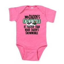 Daddy's Snowmobile Baby Bodysuit
