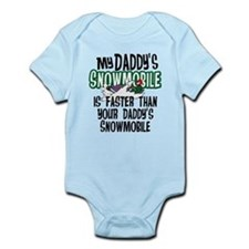 Daddy's Snowmobile Infant Bodysuit