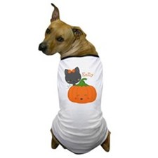 Kitty and Pumpkin Personalized Dog T-Shirt