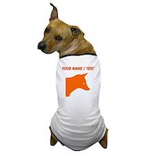 Custom Orange Fox Dog T-Shirt