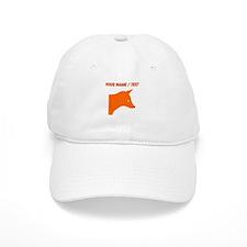 Custom Orange Fox Baseball Cap