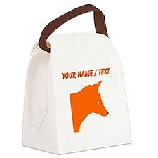 Custom Orange Fox Canvas Lunch Bag