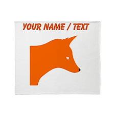 Custom Orange Fox Throw Blanket