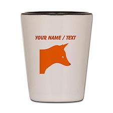 Custom Orange Fox Shot Glass