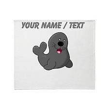 Custom Baby Seal Throw Blanket