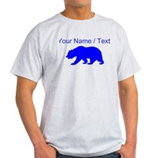 Custom Blue California Bear T-Shirt