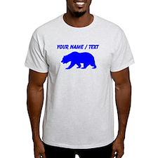 Custom Blue California Bear T-Shirt