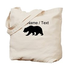 Custom Black California Bear Tote Bag
