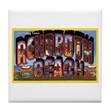 Rohoboth Beach Delaware Greetings Tile Coaster