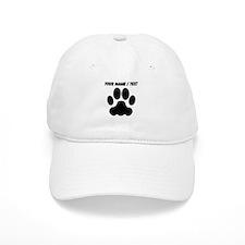 Custom Black Big Cat Paw Print Baseball Cap