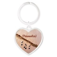 Flute Sounds/Personalize Heart Keychain