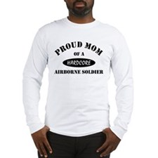 Proud Mom Airborne Soldier Long Sleeve T-Shirt