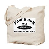 Proud Mom Airborne Soldier Tote Bag