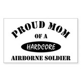 Proud Mom Airborne Soldier Rectangle Decal