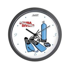 Scuba Diving Equiptment Wall Clock