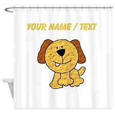 Custom Three Legged Dog Shower Curtain