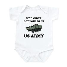 My Daddys Got Your Back US Army Infant Bodysuit