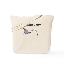 Custom Ring Tailed Lemur Tote Bag