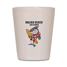 Malibu Beach, California Shot Glass