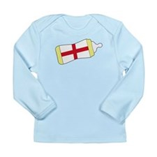 English Baby Bottle Long Sleeve Infant T-Shirt
