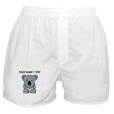 Custom Cartoon Koala Boxer Shorts
