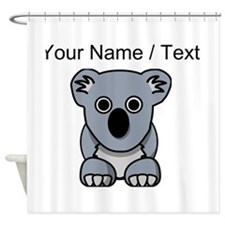Custom Cartoon Koala Shower Curtain
