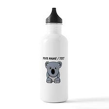 Custom Cartoon Koala Sports Water Bottle