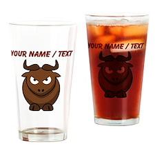 Custom Cartoon Bull Drinking Glass