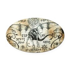 Dragon Runes Oval Car Magnet