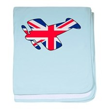Union Jack Airplane baby blanket