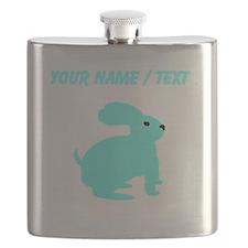 Custom Light Blue Bunny Flask