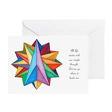 Crystalite Mandala Card w/msg