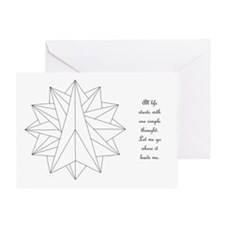 Crystalite Mandala on Card w/msg Greeting Cards