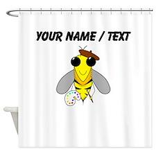 Custom Painter Bee Shower Curtain