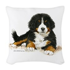Bernese Mountain Dog Bright Eyes Woven Throw Pillo