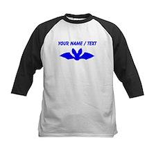 Custom Blue Bat Silhouette Baseball Jersey