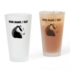 Custom Badger Drinking Glass