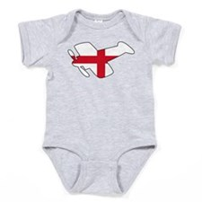 English Airplane Baby Bodysuit