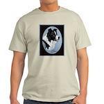Border Collie Profile Ash Grey T-Shirt