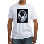 Border Collie Profile Fitted T-Shirt