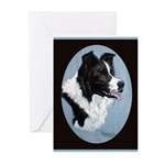 Border Collie Profile Greeting Cards (Pk of 10