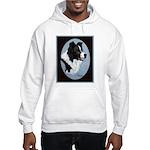 Border Collie Profile Hooded Sweatshirt