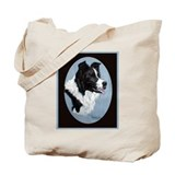 Border Collie Profile Tote Bag