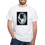 Border Collie Profile White T-Shirt