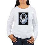 Border Collie Profile Women's Long Sleeve T-Shirt