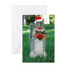 Christmas Squirrel Greeting Card