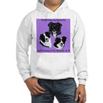 Bordering on Insanity (Border Collies) Hooded Swea